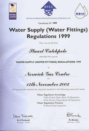 WaterAdvice.co.uk Certification